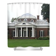 Monticello - Thomas Jeffersons Home Shower Curtain