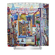 Montmartre View Shower Curtain