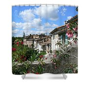 French Hilltop Terraces Shower Curtain by France  Art