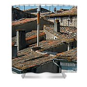 Tile Rooftops Of France Shower Curtain