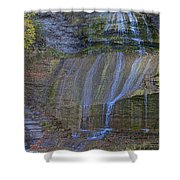Montour Falls Fall Panorama Shower Curtain