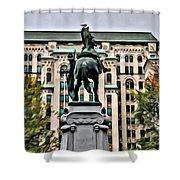 Montreal Boer War Memorial Shower Curtain