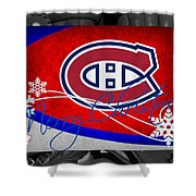 Montreal Canadiens Christmas Shower Curtain