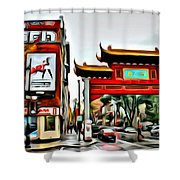 Montreal China Town Shower Curtain