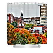 Montreal City Colors Shower Curtain