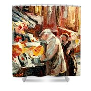 Montreal Market Scene Marche Atwater Shower Curtain