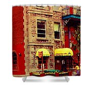 Montreal Memories Restaurant Chez Orphee 362 Fairmount Cb Spandau Montreal Premier City Scene Artist Shower Curtain