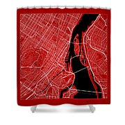 Montreal Street Map - Montreal Canada Road Map Art On Color Shower Curtain