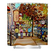 Montreal Streetscenes By Cityscene Artist Carole Spandau Over 500 Montreal Canvas Prints To Choose  Shower Curtain