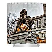 Montreal War Horse Shower Curtain