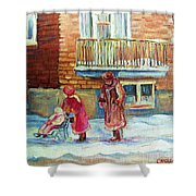 Montreal Winter Scenes Shower Curtain