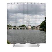 Montrichard Bridge Over Cher River Shower Curtain