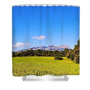 Montserrat Mountain Shower Curtain