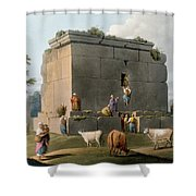 Monument Between Tripoli And Tortosa Shower Curtain