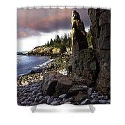 Monument Cove Sunrise 4984 Shower Curtain