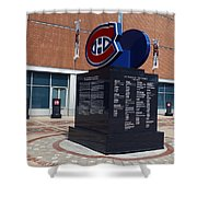 Monument For The Montreal Canadiens Shower Curtain