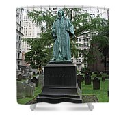 Monument John Watts Trinity Churchyard New York Shower Curtain