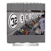 Monument Park -  Yankee Stadium Shower Curtain