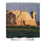 Monument Rocks Panorama Shower Curtain