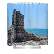 Monument Ruins Shower Curtain