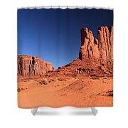 Monument Spines Shower Curtain
