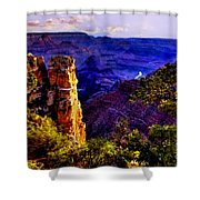 Monument To Grand Canyon  Shower Curtain