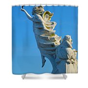 Monument To The Immigrants Statue 1 Shower Curtain