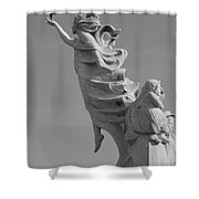 Monument To The Immigrants Statue 3 Shower Curtain