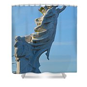 Monument To The Immigrants Statue 4 Shower Curtain