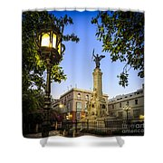 Monument To The Marquis Of Comillas Cadiz Spain Shower Curtain