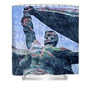 Monument To The People 0131 - 2 Sl Shower Curtain