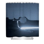 Monument Valley At Night 2 Shower Curtain