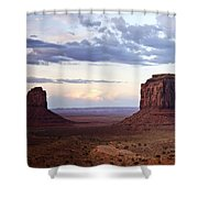 Monument Valley At Sunset Shower Curtain