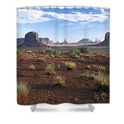 Monument Valley From North Window Shower Curtain
