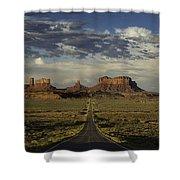 Monument Valley Panorama Shower Curtain