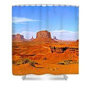 Monument Valley - Panorama Shower Curtain