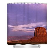 Monument Valley Red Rock Formations At Sunrise Shower Curtain