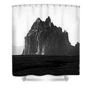 Monument Valley Region-arizona Black And White Shower Curtain