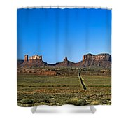 Monument Valley Road Shower Curtain