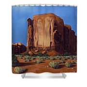Monument Valley- Sunlit Shower Curtain