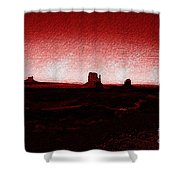Monument Valley -utah V5 Shower Curtain