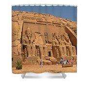 Monumental Abu Simbel Shower Curtain