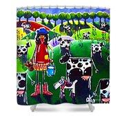 Moo Cow Farm Shower Curtain