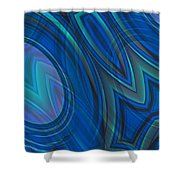 Mood In Blues Shower Curtain