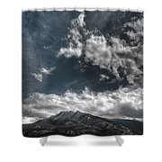 Moody Blue Shower Curtain
