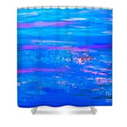 Moody Blues Abstract Shower Curtain