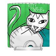 Moody Cat- Pop Art Shower Curtain