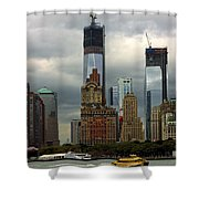 Moody City Shower Curtain