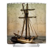 Moody Day Shower Curtain