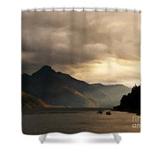 Moody Lake Shower Curtain